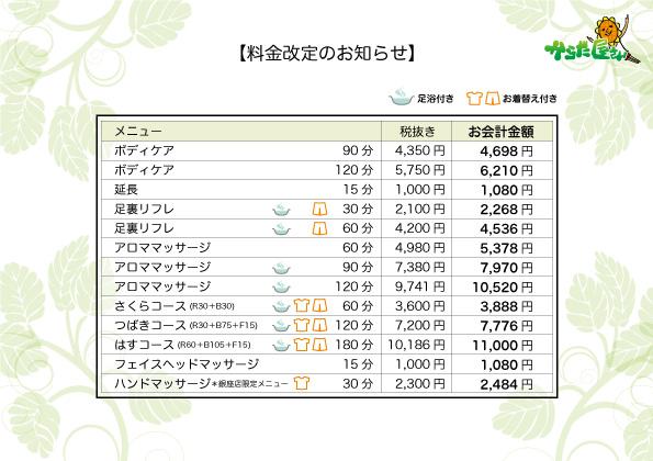 料金改定160705